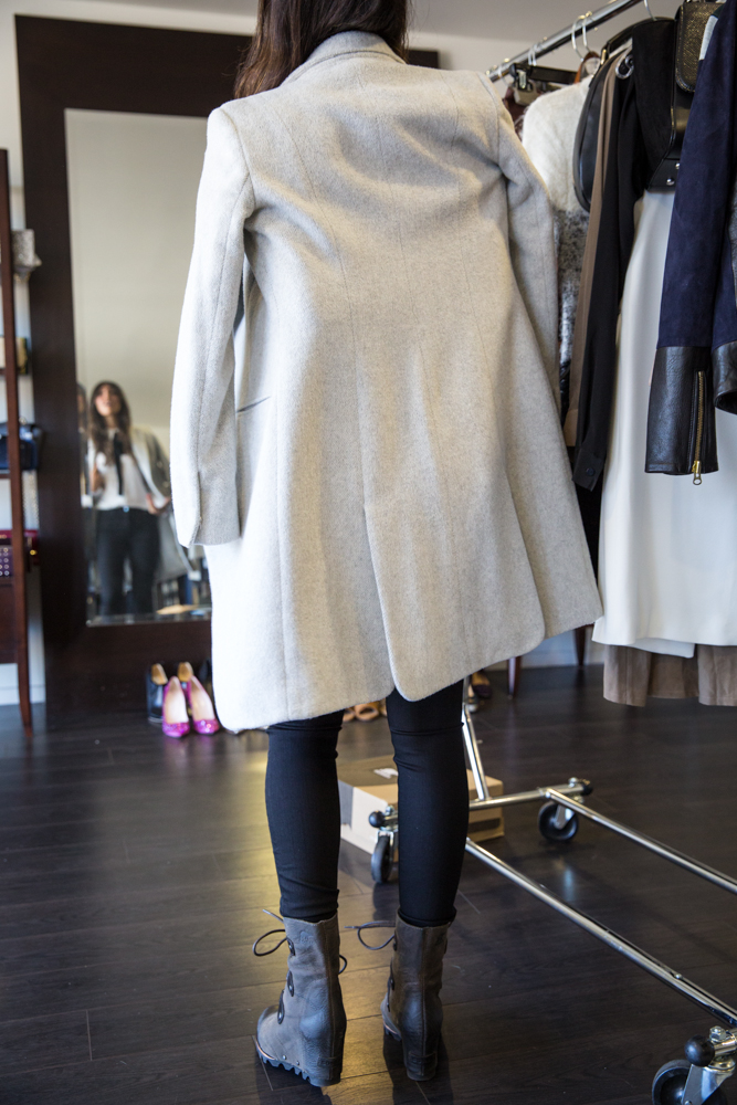 Those Sorel boots + this Rag & Bone coat were made for each other!