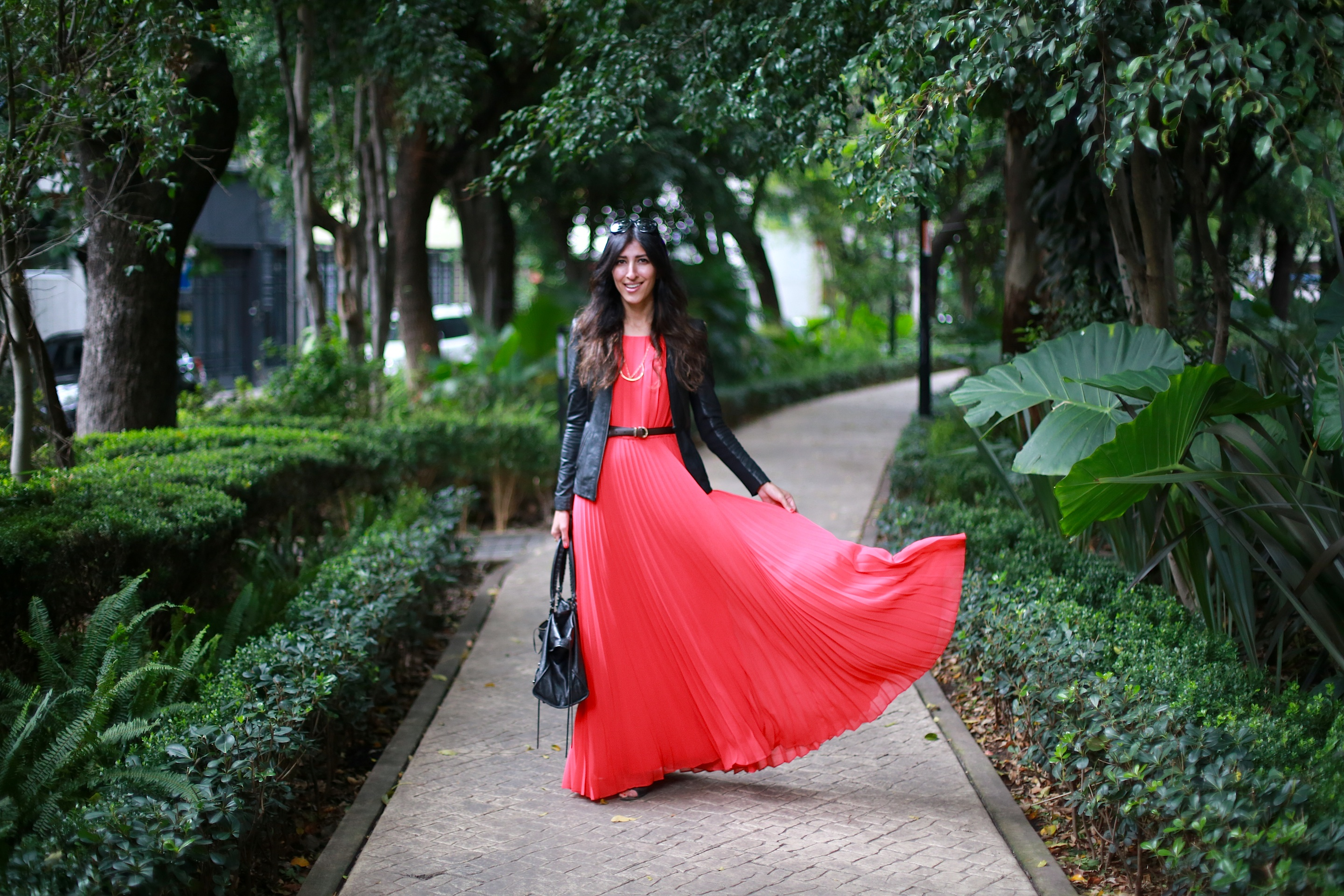 Maxi skirts or dresses with full skirts are my favorite pieces to partner with this jacket!