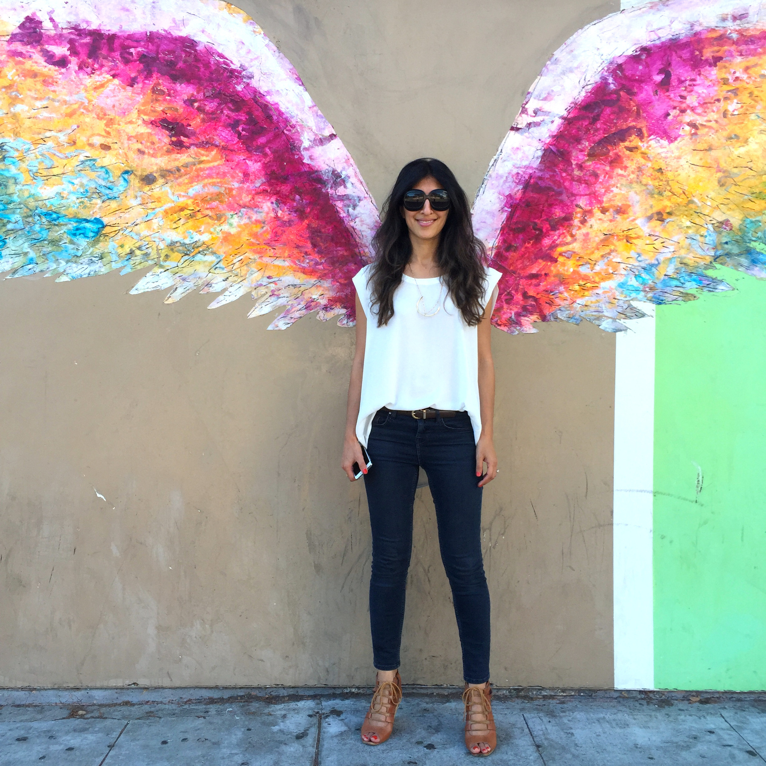 Angel wings in the City of Angels - by Colette Miller off Santa Monica Blvd.