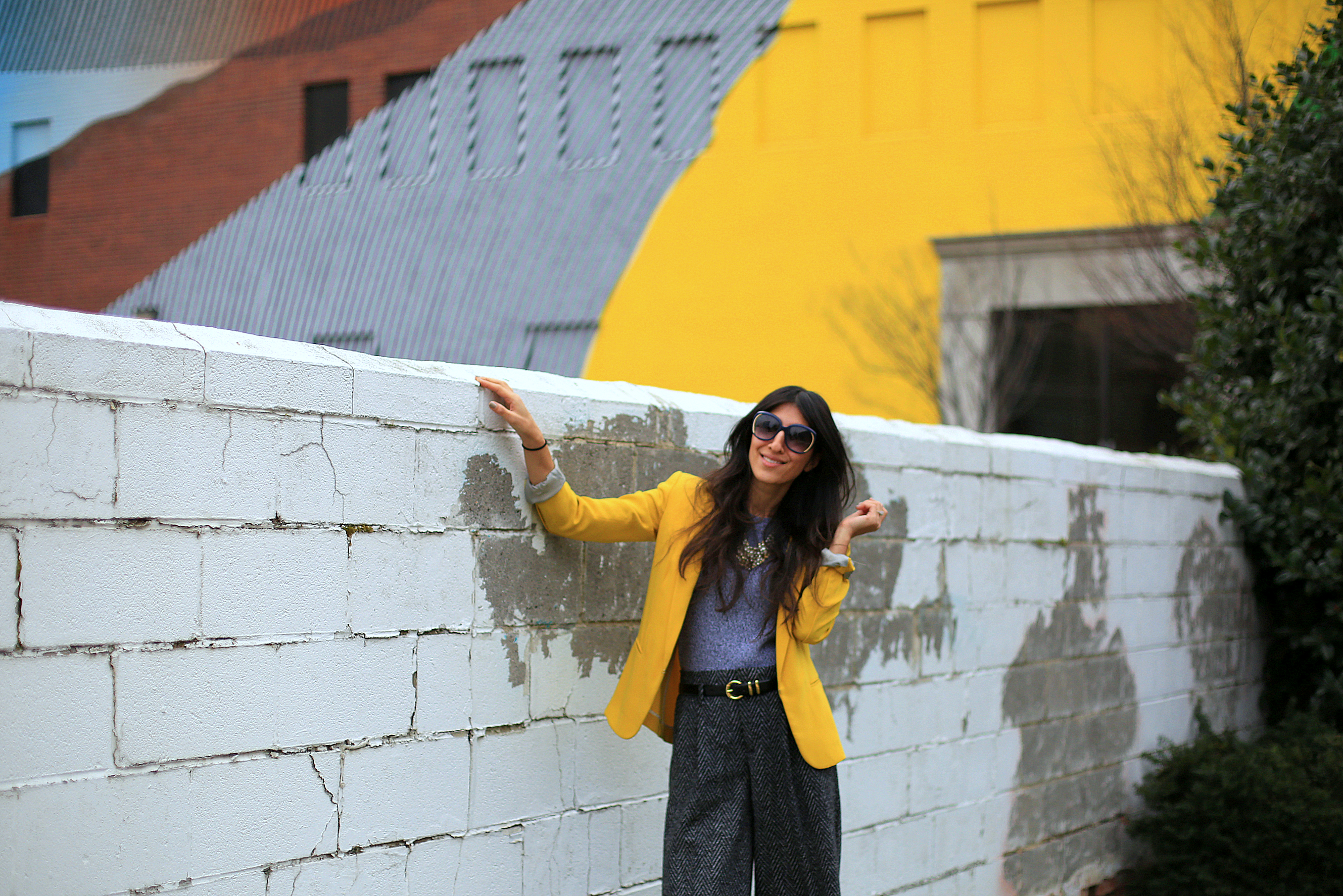 Oh hello lemon yellow! Who says you can't have fun with color unless it's summer? Brighten up your winter neutrals with a bold blazer!