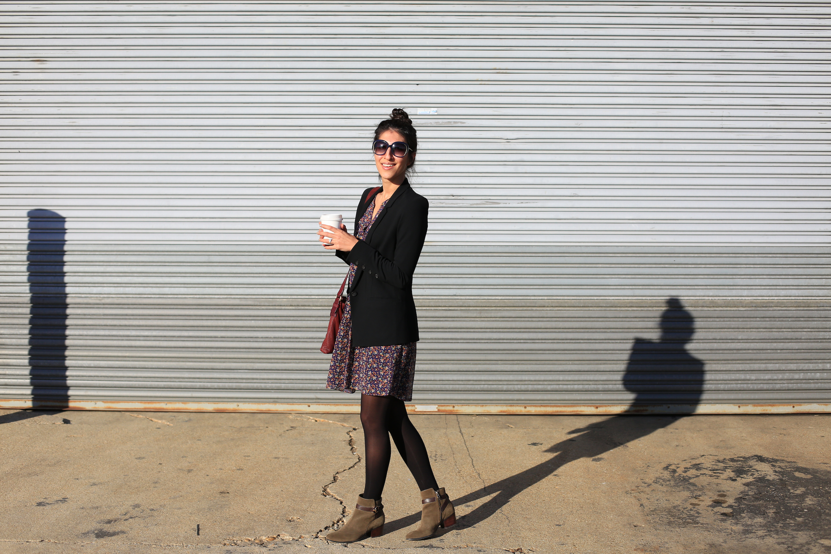 Some of the many things that put a pep in my step: springy weather, great coffee, suede booties on sale and sunshine!