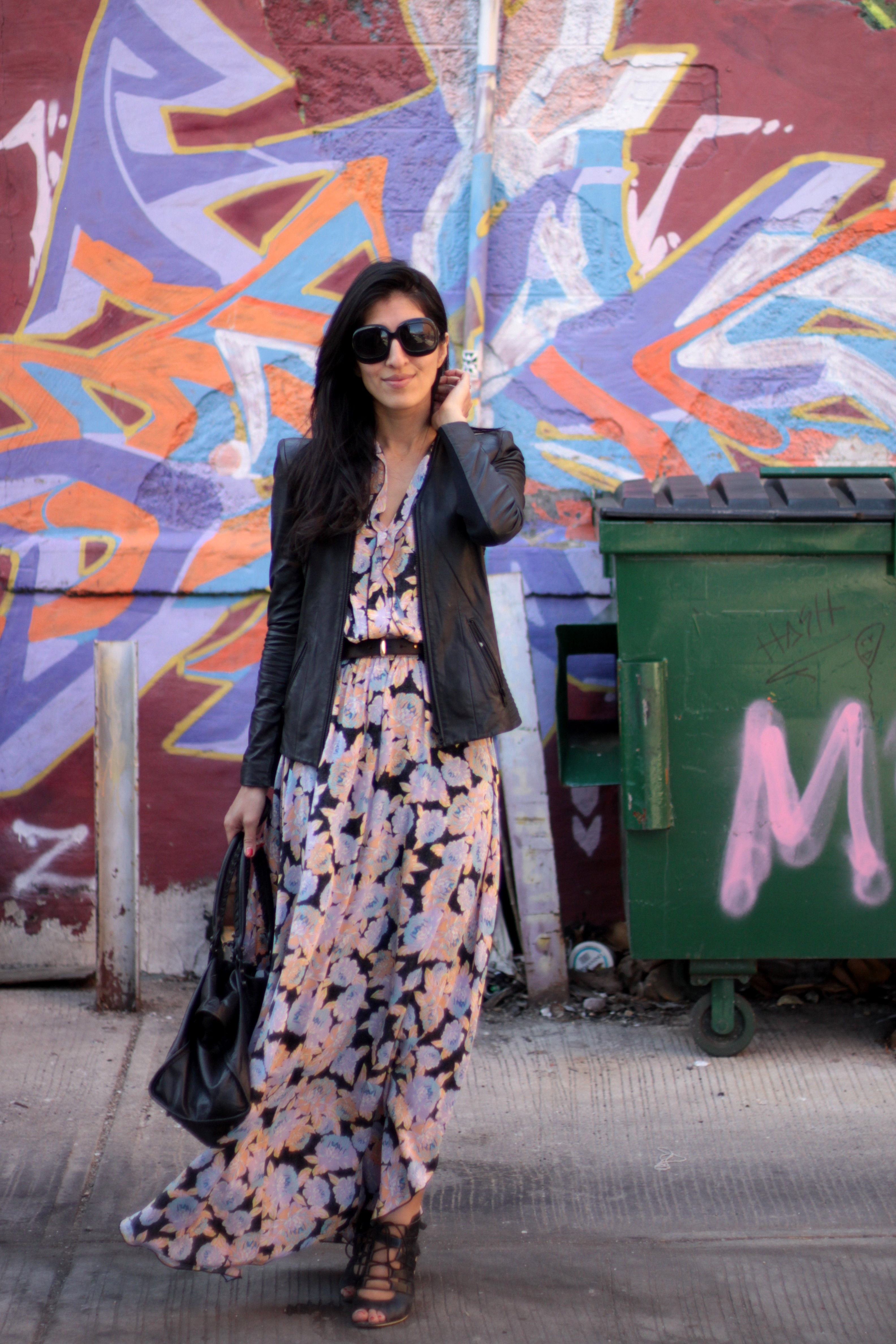 """Feeling VERY """"Devil Wears Prada"""" here with the pastel florals against an urban landscape :D"""