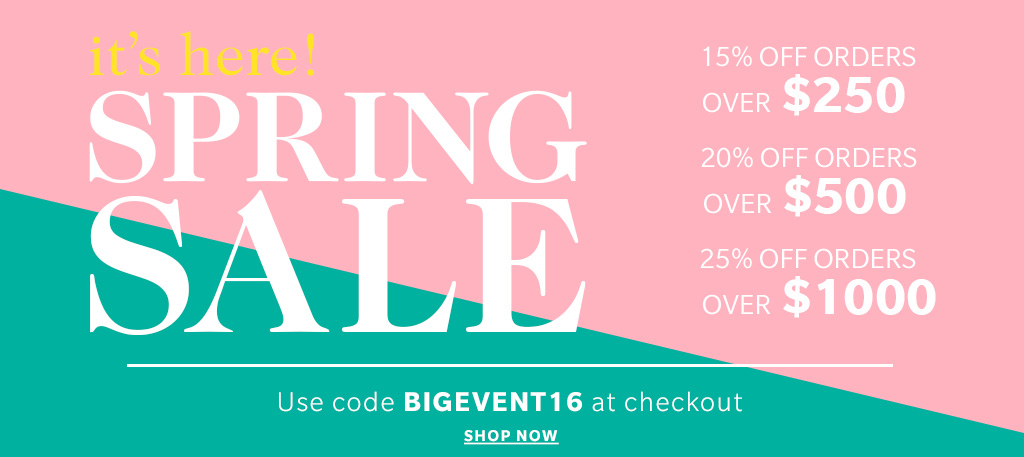 "Use PROMO CODE ""BIGEVENT16"" at checkout for incredible springs savings!!"