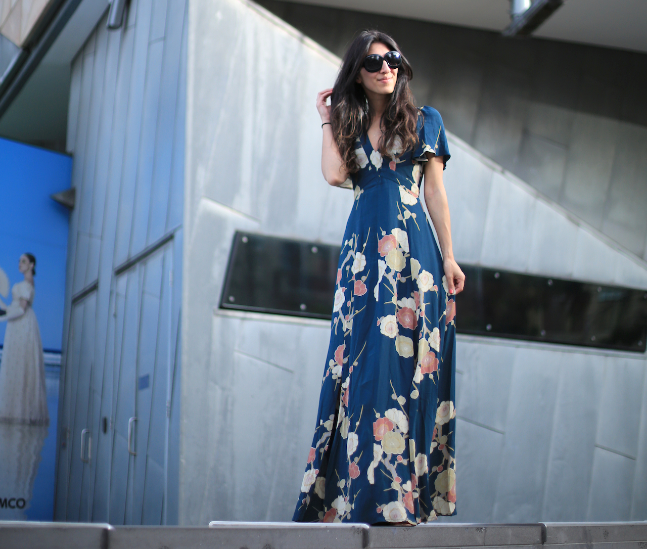 ASOS WEDDING Floral Fantasy Flutter-Sleeve Dress with Kimono Sleeves | Federation Square - Melbourne, Australia