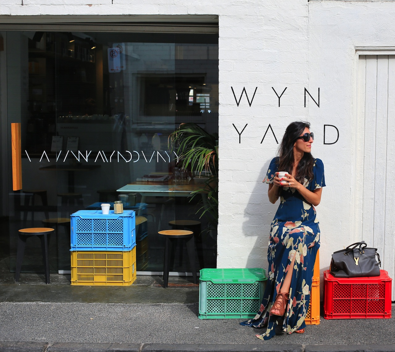_wynyard me outside with coffee