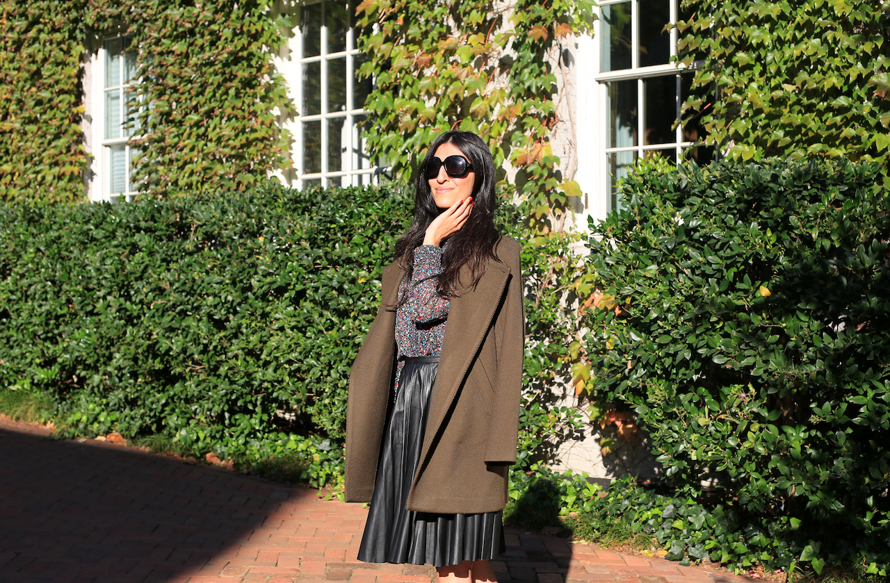 georgetown-ivy-covered-house-dvf-blouse-theory-jacket-leather-skirt